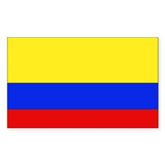 Colombian Flag Rectangle Sticker (Rectangle 50 pk)
