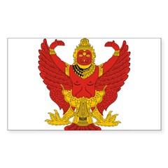 Thailand Emblem Oval Sticker (Rectangle 50 pk)