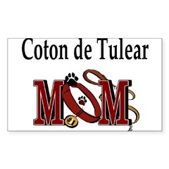 Coton de Tulear Mom Rectangle Sticker (Rectangle 50 pk)