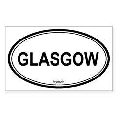 Glasgow, Scotland euro Oval Sticker (Rectangle 50 pk)