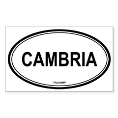 Cambria oval Oval Sticker (Rectangle 50 pk)