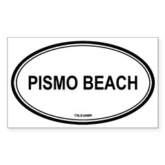 Pismo Beach oval Oval Sticker (Rectangle 50 pk)