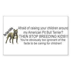 """Pit Bull"" Sticker (Rectangle 50 pk)"