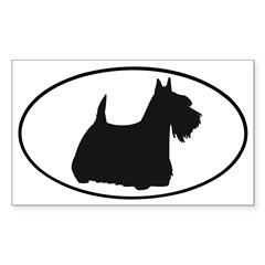 Scottish Terrier Oval Sticker (Rectangle 50 pk)