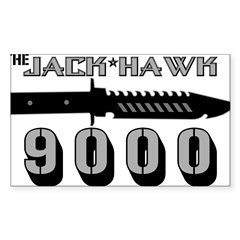 Jack Hawk Rectangle Sticker (Rectangle 50 pk)