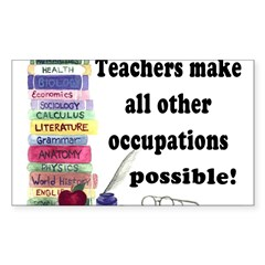 """Teacher Occupations"" Rectangle Sticker (Rectangle 50 pk)"
