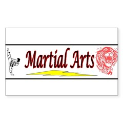 Tiger Martial Arts Sticker (Rectangle 50 pk)
