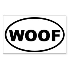 Woof Oval Sticker (Rectangle 50 pk)