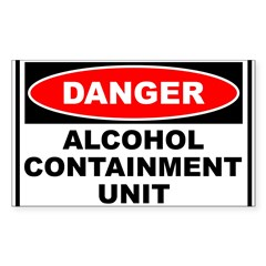 Alcohol Containment Rectangle Sticker (Rectangle 50 pk)