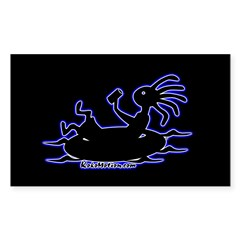 Kokopelli Tuber Rectangle Sticker (Rectangle 50 pk)