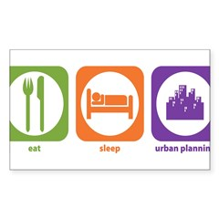 Eat Sleep Urban Rectangle Sticker (Rectangle 50 pk)