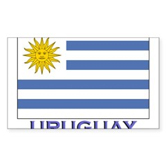 Uruguay Flag Gear Rectangle Sticker (Rectangle 50 pk)