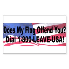 Does My Flag Offend You Sticker (Rectangle 50 pk)