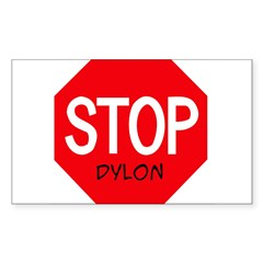 Stop Dylon Sticker (Rectangle 50 pk)