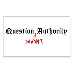 Question Davon Authority Sticker (Rectangle 50 pk)