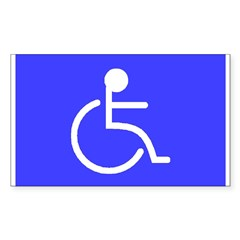 """Disabled"" Rectangle Sticker (Rectangle 50 pk)"