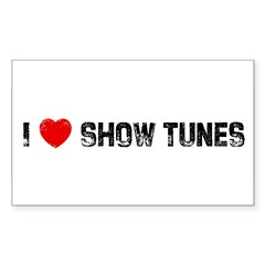 I * Show Tunes Sticker (Rectangle 50 pk)