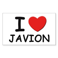 I love Javion Rectangle Sticker (Rectangle 50 pk)