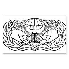 Force Protection Badge Rectangle Sticker (Rectangle 50 pk)