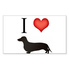doxie love Rectangle Sticker (Rectangle 50 pk)
