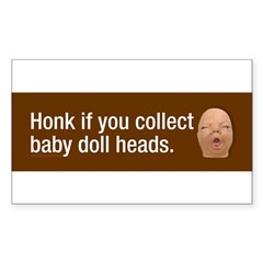 Collect baby doll heads Sticker (Rectangle 50 pk)