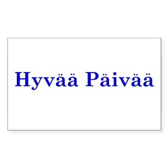 Hyvää Päivää Rectangle Sticker (Rectangle 50 pk)