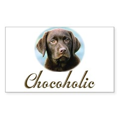 Chocoholic Rectangle Sticker (Rectangle 50 pk)