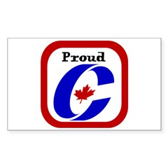 Proud Canadian Conservative Rectangle Sticker (Rectangle 50 pk)