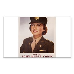 Army Nurse Corps Rectangle Sticker (Rectangle 50 pk)