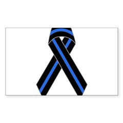 Memorial Ribbon Rectangle Sticker (Rectangle 50 pk)