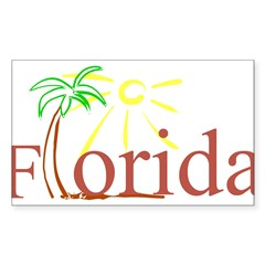 Florida Palm Rectangle Sticker (Rectangle 50 pk)