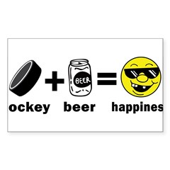 Funny Hockey Rectangle Sticker (Rectangle 50 pk)