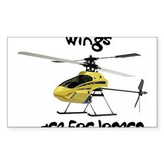Helicopter Rectangle Sticker (Rectangle 50 pk)