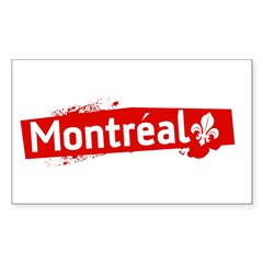 'Montreal' Rectangle Sticker (Rectangle 50 pk)