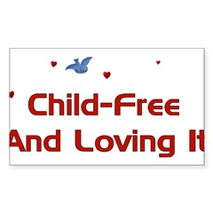 Child Free Sticker (Rectangle 50 pk)