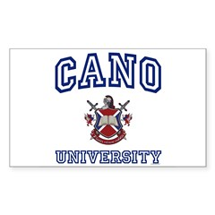 CANO University Rectangle Sticker (Rectangle 50 pk)
