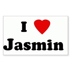 I Love Jasmin Sticker (Rectangle 50 pk)