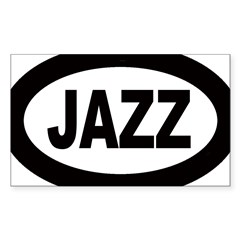 Jazz Car Oval Sticker (Rectangle 50 pk)
