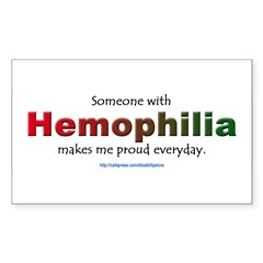 Hemophilia Pride Rectangle Sticker (Rectangle 50 pk)