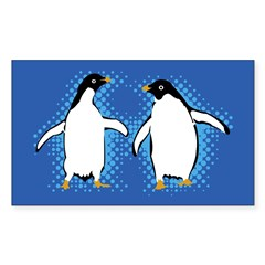 Dancing Penguins Rectangle Sticker (Rectangle 50 pk)