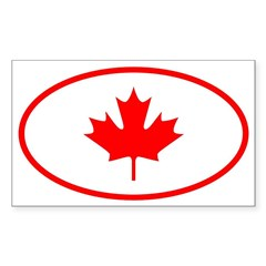 Canada Oval Sticker (Rectangle 50 pk)