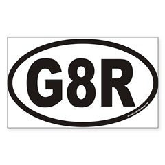 G8R Euro Oval Sticker (Rectangle 50 pk)