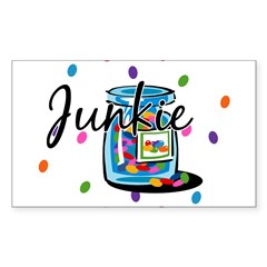 Jelly Bean Junkie Rectangle Sticker (Rectangle 50 pk)
