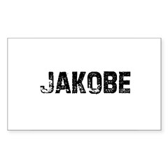 Jakobe Rectangle Sticker (Rectangle 50 pk)