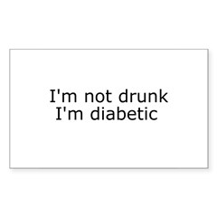 Diabetic Info Rectangle Sticker (Rectangle 50 pk)
