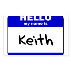 hello my name is keith Rectangle Sticker (Rectangle 50 pk)