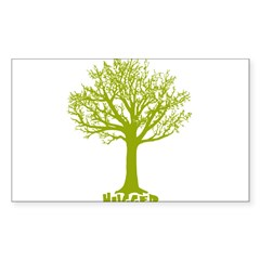TREE hugger (lime) Rectangle Sticker (Rectangle 50 pk)