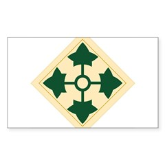 4th Infantry Division Rectangle Sticker (Rectangle 50 pk)