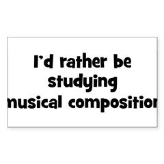 Study musical composition Sticker (Rectangle 50 pk)