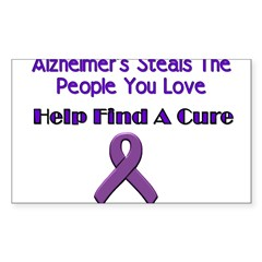 alzheimer's steals Sticker (Rectangle 50 pk)